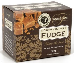 Radfords Crumbly Butter Fudge 100g Gift Box